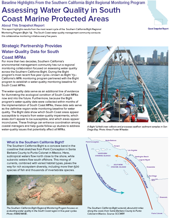 Assessing Water Quality in South Coast MPAs (Southern