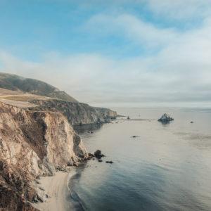 Photo of the California coastline and ocean