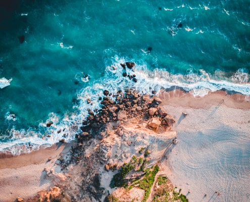 Aerial photograph of Point Dume, Malibu